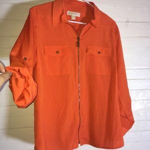 Michael Kors Front Zip Tunic Style Top